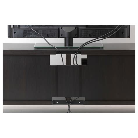 scaffali besta best 197 tv storage combination black brown valviken grey