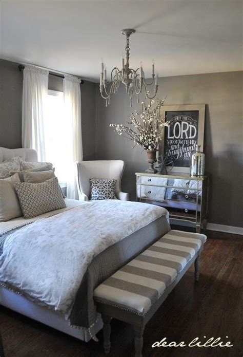 grey white master bedroom decor it