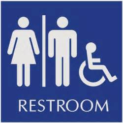 basic engraved restroom signs wheelchair accessible unisex