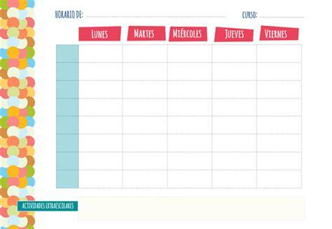 doodle crear calendario plantilla de horario semanal manualidades euroresidentes