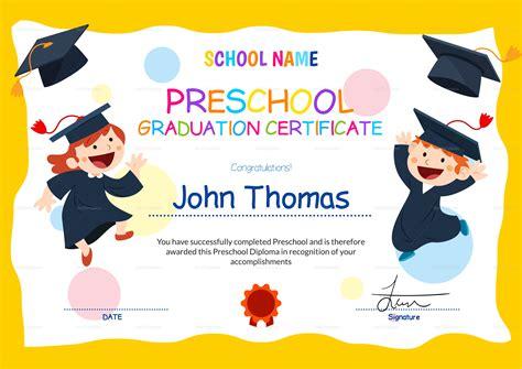 graduation certificate template preschool graduation certificate design template in psd word