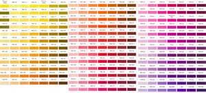 Fine Table Linens Pantone Color Charts