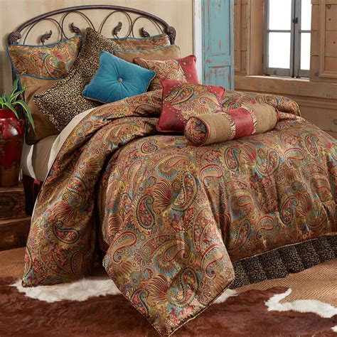 san angelo comforter set with leopard bedskirt king