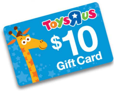 Gift Cards At Toys R Us - toys r us 10 gift card with 75 purchase southern savers