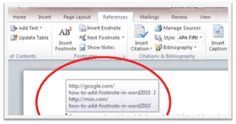 format footnote line word 2010 how to use footnote in microsoft word 2010 information