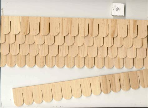 dollhouse shingles shingles fishscale 7405 1 12 scale dollhouse roofing