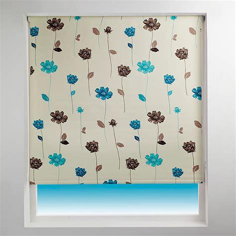 teal patterned roller blind sunlover patterned thermal blackout roller blind ebay