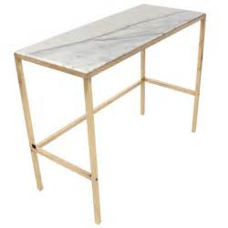 Marble Console Table Brass And Marble Console Table Or Desk After Paul Mccobb At 1stdibs