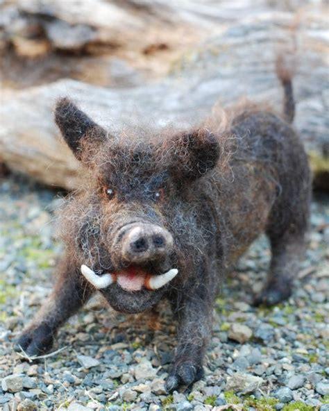 Aiguille feutré sanglier cochon sauvage par ...