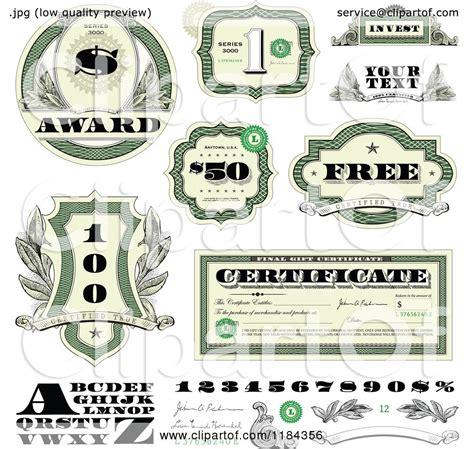 money dollars and design elements vector stock certificate clipart jaxstorm realverse us