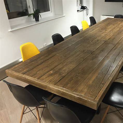 Timber Boardroom Table Jules Reclaimed Wood Meeting Boardroom Table By Revive Joinery Notonthehighstreet