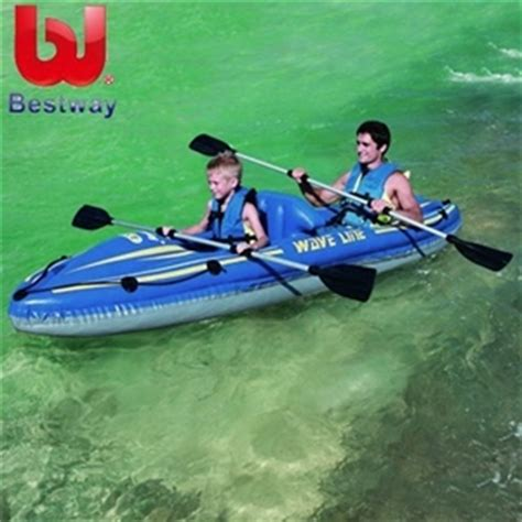 waveline inflatable boats reviews buy bestway inflatable 2 person wave line kayak set