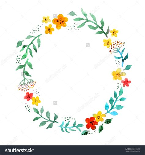 Flower Circle Ring by Circle Flower Wreath Clipart