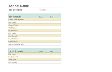 4 best images of free printable college class schedule