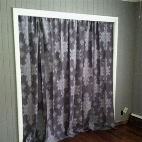Curtains Instead Of Closet Doors Cool Curtains Instead Of Closet Doors On The Closet Doors In S Room And Hung Pretty
