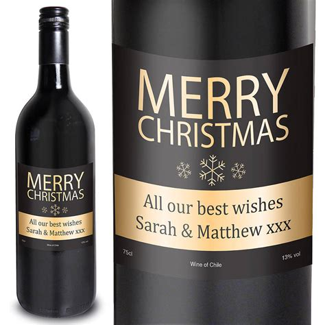 merry christmas personalised wine by letteroom