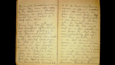 the truce the diary bbc news 1915 ww1 diary gives account of second christmas truce