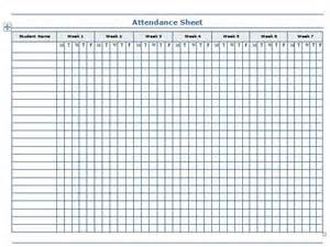 Printable School Template by 38 Free Printable Attendance Sheet Templates