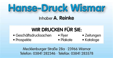 Postkarten Drucken Lassen Hamburg by Druckerei Wismar Hanse Druck Wismar Werbefirma Wismar