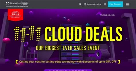 alibaba vps alibaba cloud singles day offers big sales up to 95