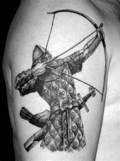 50 archery tattoos for men bow and arrow designs