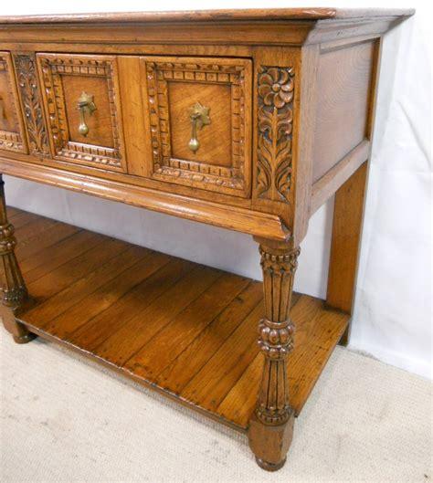 antique light oak dresser antique tudor style light oak carved dresser base