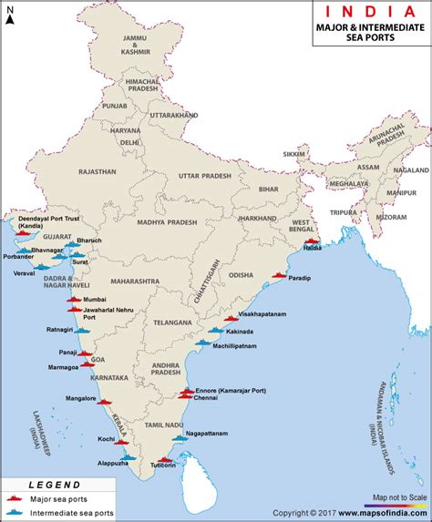 seaport map major sea ports map seaports in india