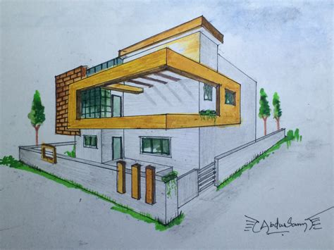 architecture sketching 3 how to design a house from architectural perspective drawing 3 youtube