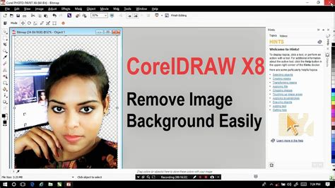 corel draw x4 remove background how to remove image background easily in coreldraw x8
