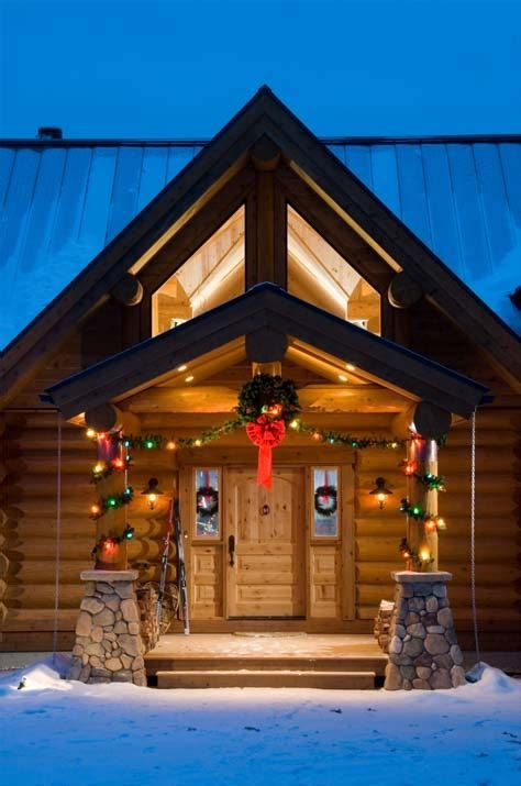 christmas decorating ideas for log homes 33 log cabin decorations