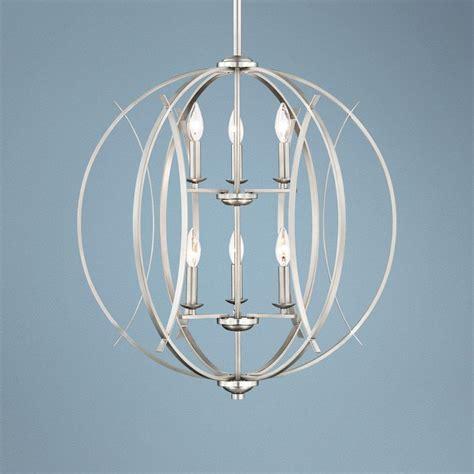 Spherical Pendant Light Brushed Nickel Spherical 24 Quot Wide 6 Light Pendant Light