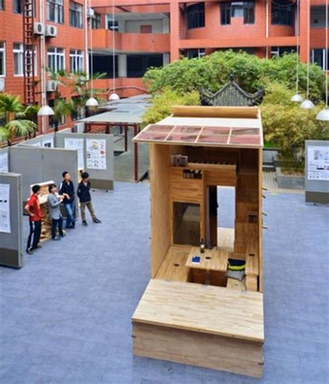 75 sq feet architecture student in china builds 75 sq ft tiny house