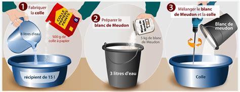 Utilisation Du Blanc De Meudon by Fabriquer Un Badigeon Au Blanc De Meudon Peinture