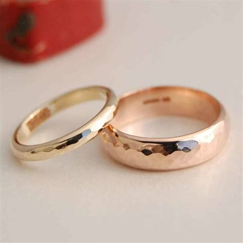 wedding band designs personalised solid gold wedding band set by alison