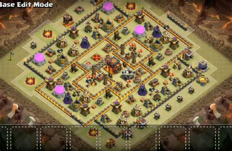 clash of clans th10 war base layout 10 epic th10 war base trophy farming base layouts 2018