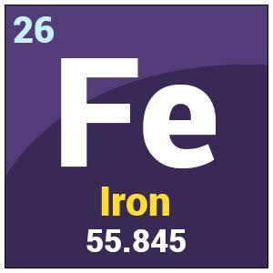 electronic configuration of iron fe element iron