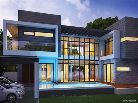 modern style home plans residential 2 storey house plan modern 2 story house plans