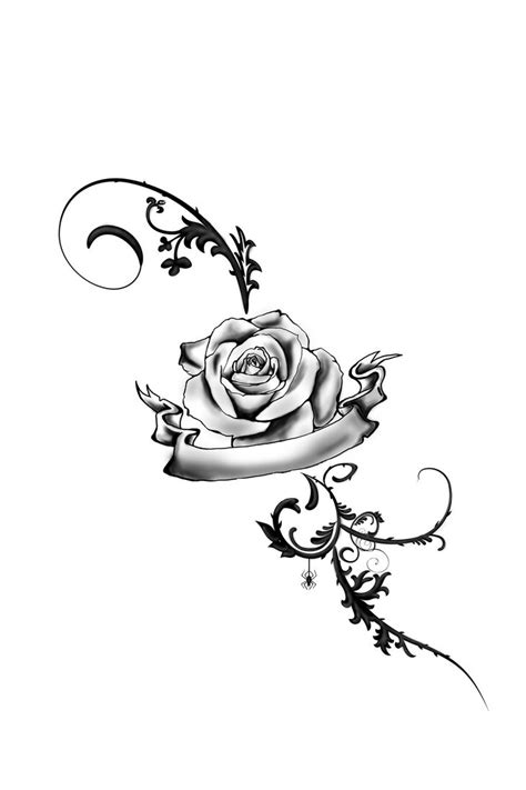 vine with roses tattoo designs foot by juliavonmorque on deviantart