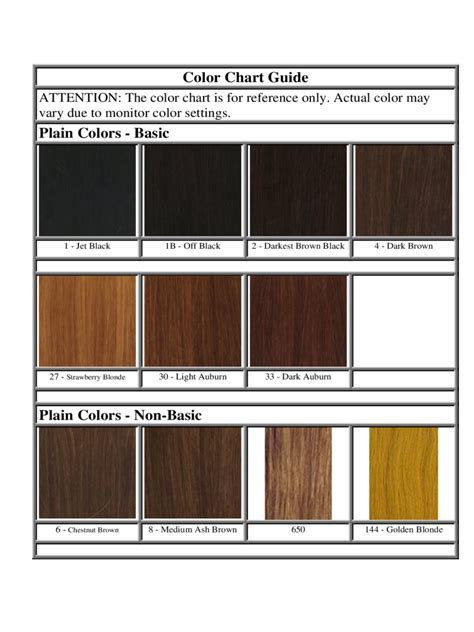 hair color chart template 6 free templates in pdf word