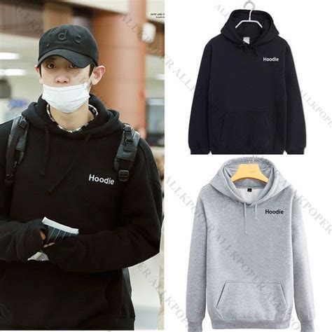 Sweater Hoodie Jaket Exo Kpop Exo Chanyeol Airport Fashion Cap Hoodie Sweater