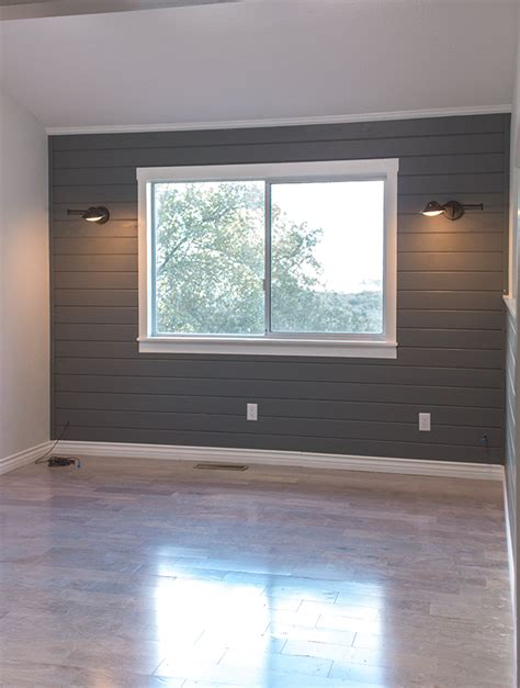 Painted Shiplap Walls Planked Wall Painted Gray Plank Walls