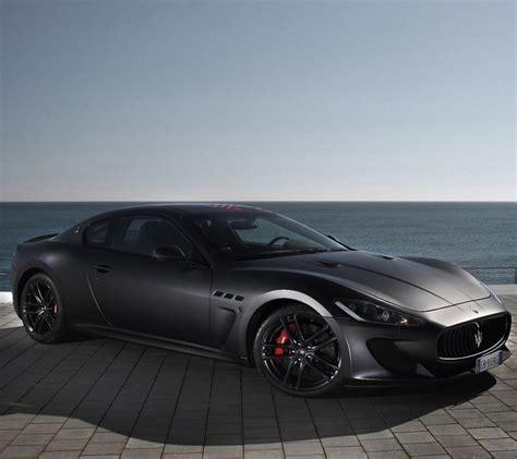 black maserati sports car maserati