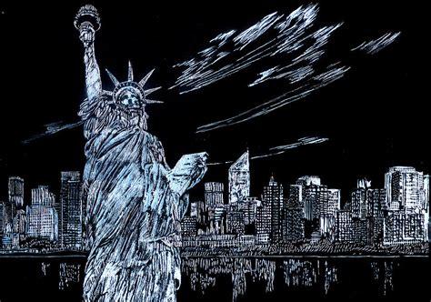 new york drawings new york new york new york drawing by saad hasnain