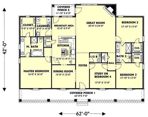 southern style floor plans the southern spirit 5725 4 bedrooms and 2 baths the house designers
