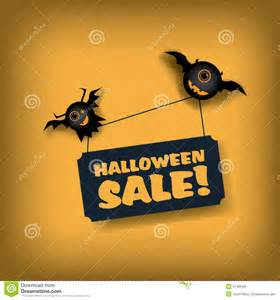 halloween sale poster template special offer stock vector