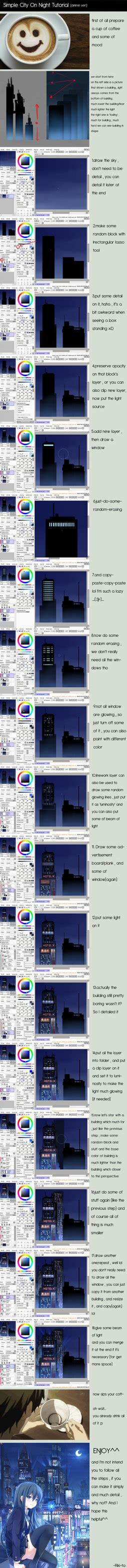 City On Tutorial Paint Tool Sai By Riki To On