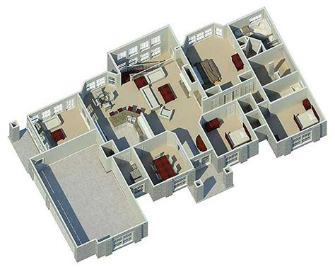 Atrium Ranch Home Plan 57030ha 1st Floor Master Suite 3d Home Floor Plan Design Suite V 9