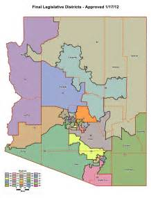 arizona school district map school districts