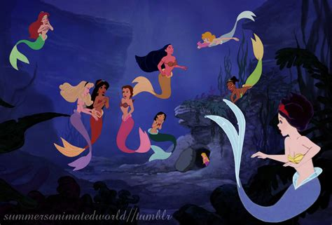 Mermaid Princesses Disney Crossover Photo 33608182 Pictures Of Disney Princesses As Mermaids