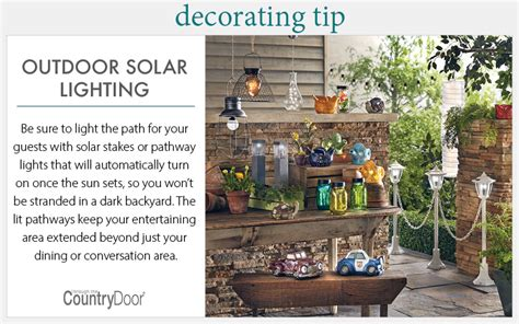 home decorating tips solar lighting